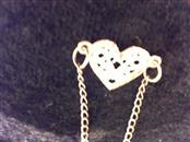 anklet 14k yellow gold w/heart